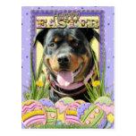 Galletas del huevo de Pascua - Rottweiler Tarjeta Postal