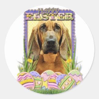 Galletas del huevo de Pascua - sabueso - penique Etiqueta