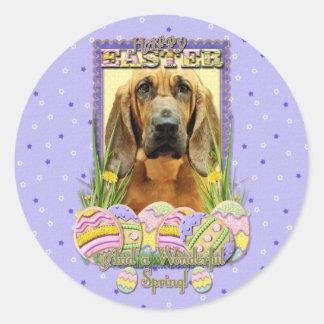 Galletas del huevo de Pascua - sabueso - penique Etiquetas