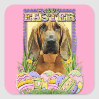 Galletas del huevo de Pascua - sabueso - penique Pegatinas Cuadradas