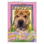 Galletas del huevo de Pascua - Shar Pei Tarjeta De Felicitación