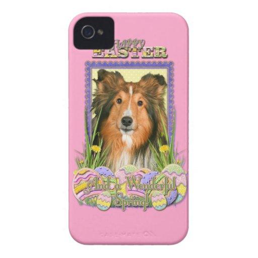 Galletas del huevo de Pascua - Sheltie Case-Mate iPhone 4 Carcasa