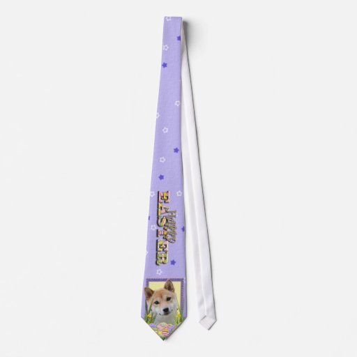 Galletas del huevo de Pascua - Shiba Inu Corbata