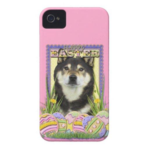 Galletas del huevo de Pascua - Shiba Inu iPhone 4 Case-Mate Protectores