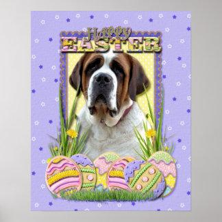 Galletas del huevo de Pascua - St Bernard Poster