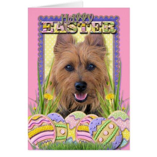 Galletas del huevo de Pascua - Terrier australiano Tarjetón
