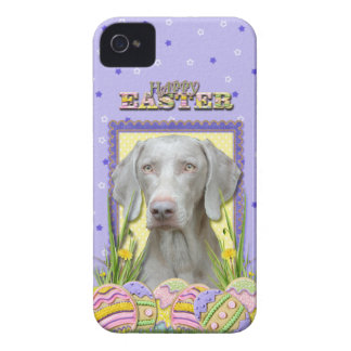 Galletas del huevo de Pascua - Weimaraner Case-Mate iPhone 4 Funda