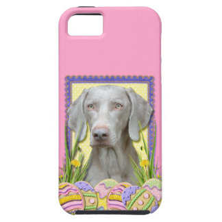 Galletas del huevo de Pascua - Weimaraner iPhone 5 Case-Mate Carcasa