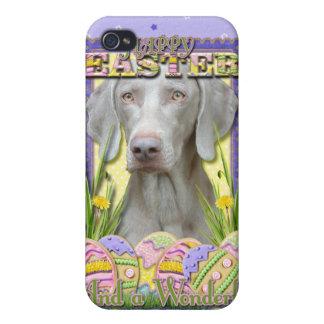 Galletas del huevo de Pascua - Weimaraner iPhone 4 Coberturas