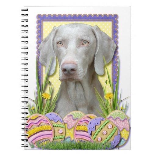 Galletas del huevo de Pascua - Weimaraner Cuaderno