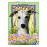 Galletas del huevo de Pascua - Whippet Felicitación