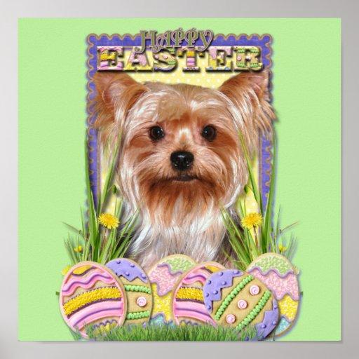 Galletas del huevo de Pascua - Yorkshire Terrier Impresiones