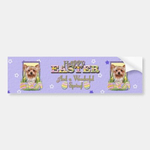 Galletas del huevo de Pascua - Yorkshire Terrier Pegatina Para Auto