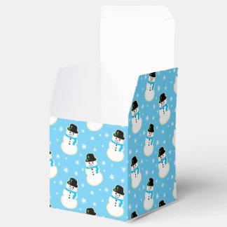 Galletas del muñeco de nieve caja para regalo de boda