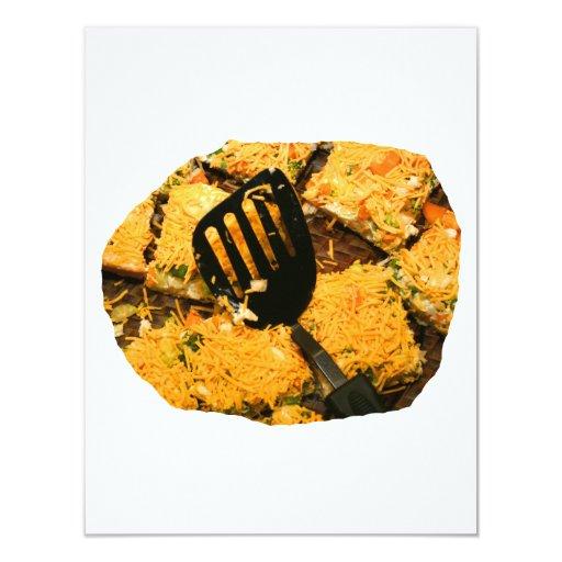 Galletas del Nacho y imagen de la espátula Invitación 10,8 X 13,9 Cm