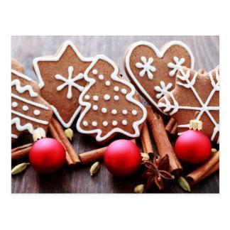 Galletas del navidad con las especias - tiempo del tarjetas postales