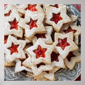 Galletas del navidad de la estrella póster