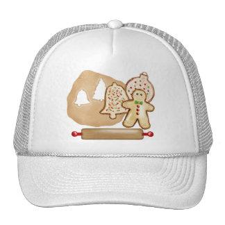 Galletas del navidad de la hornada gorra