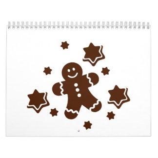 Galletas del navidad de Lebkuchen Calendarios De Pared