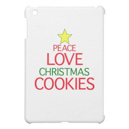 Galletas del navidad del amor de la paz
