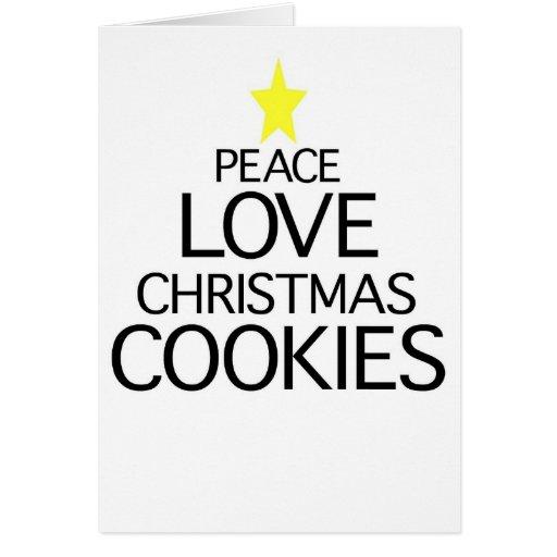 Galletas del navidad del amor de la paz felicitacion
