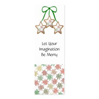 Galletas del navidad del lunar tarjetas de visita