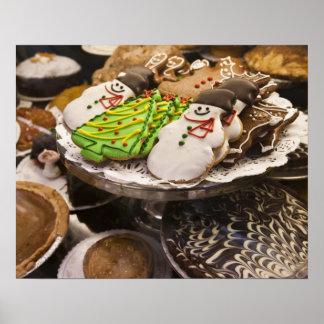 Galletas del navidad en la exhibición en un New Yo Póster