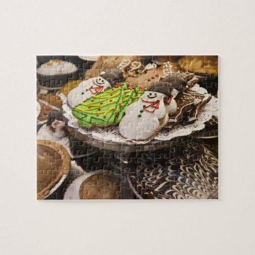 Galletas del navidad en la exhibición en un New Yo Rompecabezas