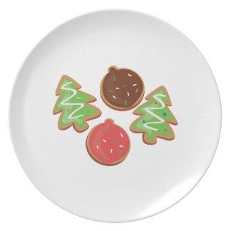 Galletas del navidad plato