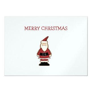 """Galletas del navidad · Santa Invitación 5"""" X 7"""""""