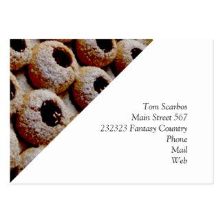 galletas del navidad tarjetas de visita grandes