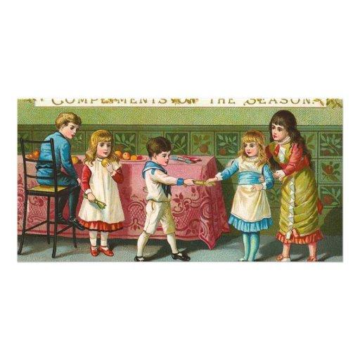 Galletas del navidad plantilla para tarjeta de foto