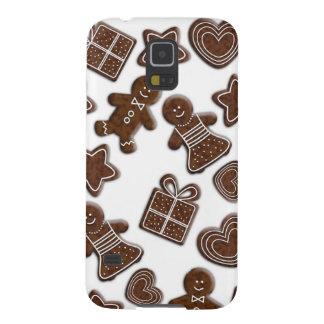 galletas del pan de jengibre del navidad carcasa galaxy s5
