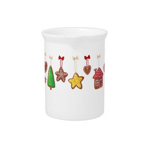 Galletas del pan de jengibre del navidad jarras para bebida