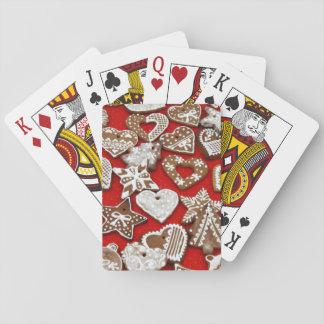 Galletas del pan de jengibre del navidad - cartas de juego