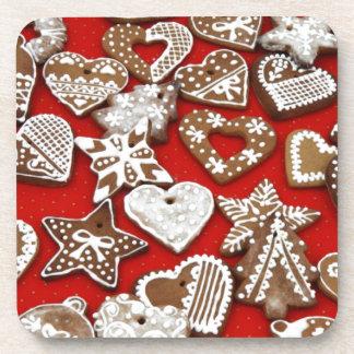 Galletas del pan de jengibre del navidad posavasos