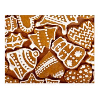 Galletas del pan de jengibre del navidad tarjetas postales