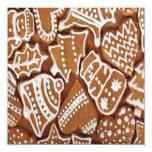 Galletas deliciosas del pan de jengibre del día de invitación