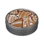 Galletas deliciosas del pan de jengibre del día de frascos de caramelos