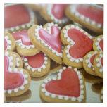 galletas dulces de la tarjeta del día de San Valen Azulejo Cuadrado Grande