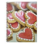 galletas dulces de la tarjeta del día de San Valen Libro De Apuntes