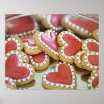 galletas dulces de la tarjeta del día de San Valen Posters