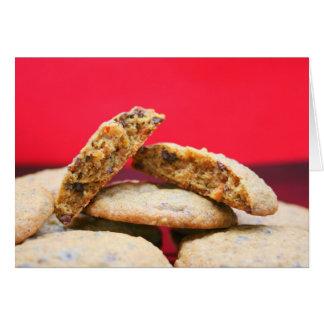 Galletas enteras del grano con las curiosidades tarjeta pequeña
