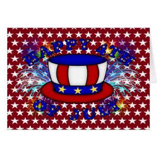 Galletas felices del 4 de julio tarjeta de felicitación