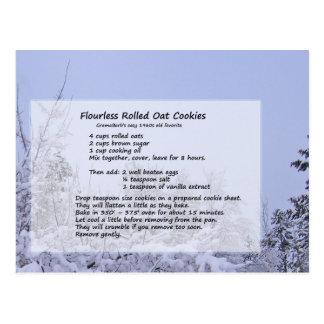 Galletas Flourless de la avena Tarjeta Postal