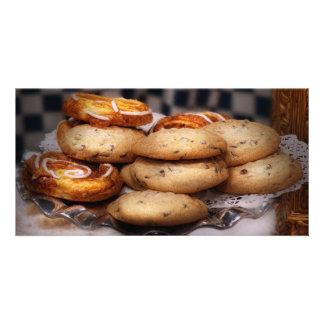 - Galletas - galletas dulces y danés Tarjeta Personal Con Foto