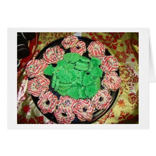 Galletas, galletas, navidad dulce felicitación