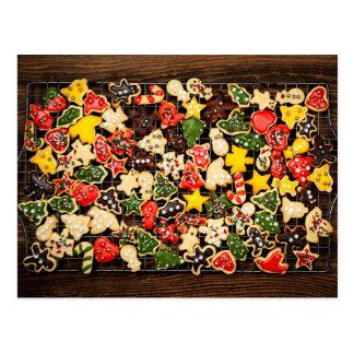 Galletas hechas en casa del navidad tarjetas postales