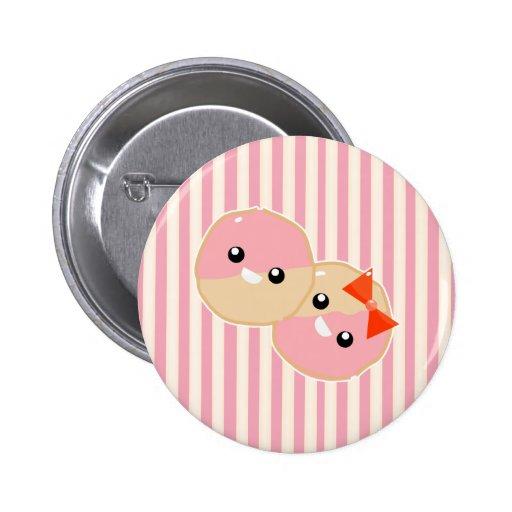 Galletas heladas rosa lindo de Kawaii Pins