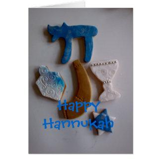 galletas judías del día de fiesta, Hannukah feliz Tarjeta De Felicitación